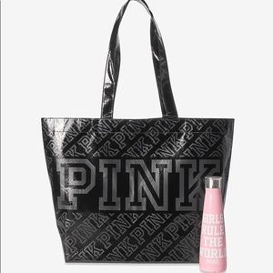 VS Pink S'Well Water Bottle & Reusable Tote Bag